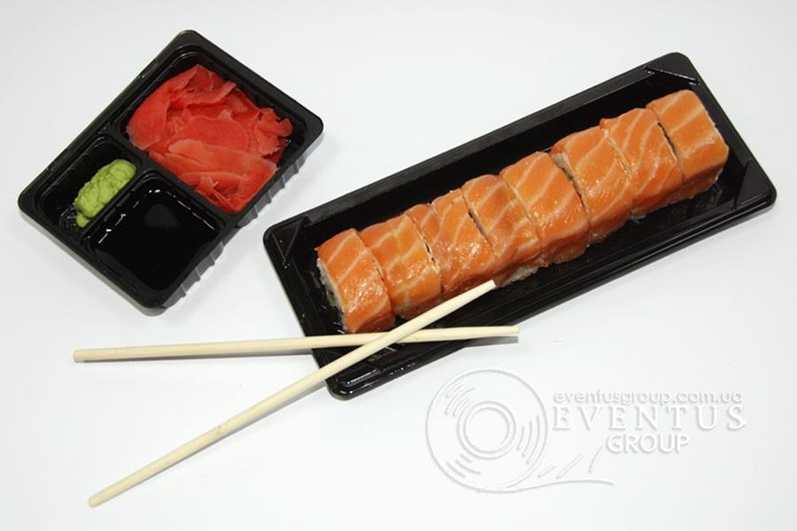 Упаковка для суши на 1 ролл в 1 ряд